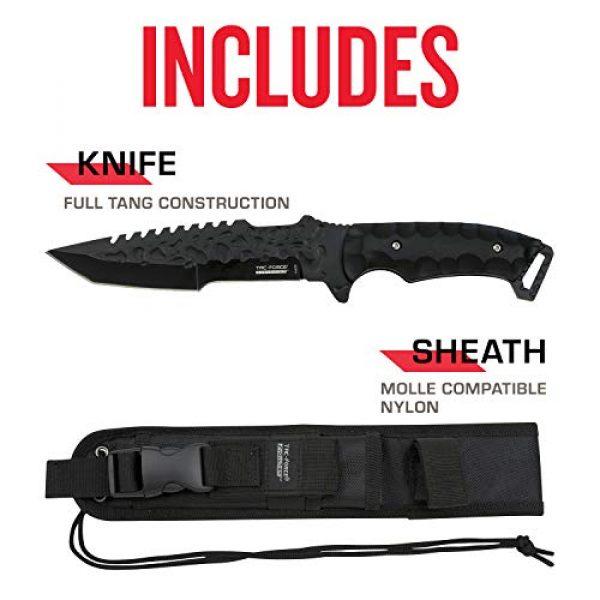 Tac Force Evolution Fixed Blade Survival Knife 5 Tac Force Evolution Fixed Blade Knife - TFE-FIX008-BK