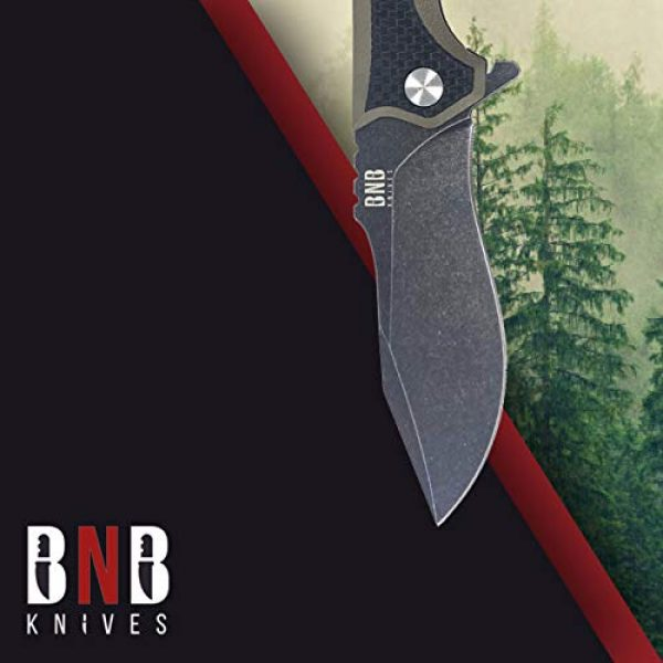 BUCKNBEAR KNIVES Fixed Blade Survival Knife 7 Buck n Bear EDC Diesel Pocket Knife, 3.6 Inch Blade, G10 Handle