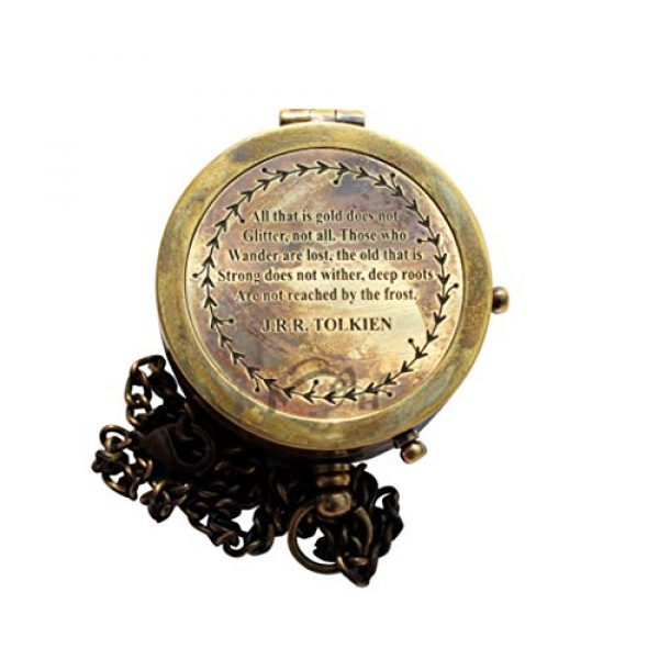 MAH Survival Compass 3 MAH All That is Gold Does not Glitter, not All , Camping Compass Engraved with Gift Compass. C-3127