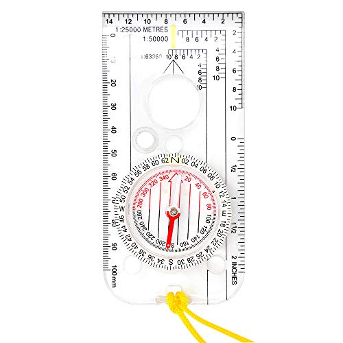 XLHVTERLI Survival Compass 2 Compass Navigation Explorer/magnetic Compass for Expedition Map reading,Lightweight Map Ruler,Compass with Adjustable Declination for Orienteering and Survival Mountaineering or Hiking Essential