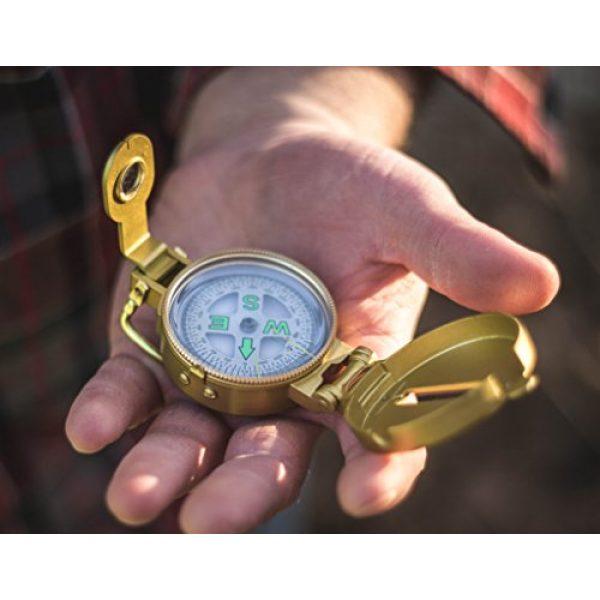Stansport Survival Compass 2 Stansport Liquid Filled Metal Lensatic Compass