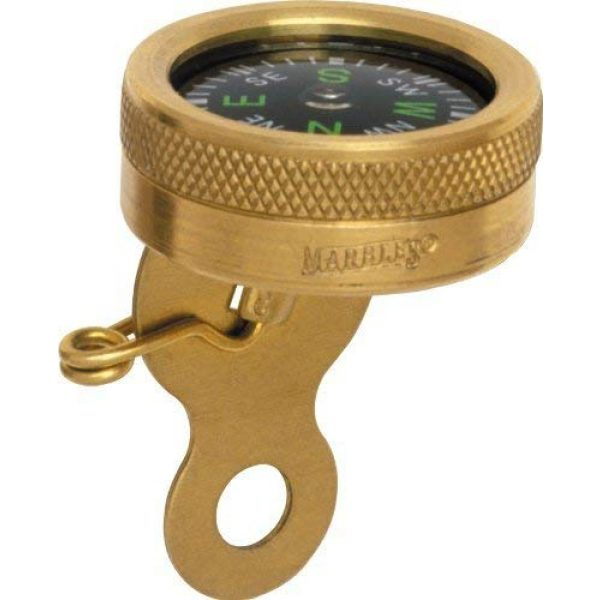 Marbles Survival Compass 3 Pin-On Compass