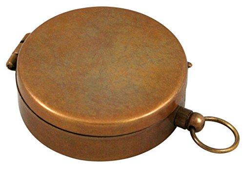 Historical Emporium Survival Compass 2 Historical Emporium Antique Brass Pocket Compass with Hinged Lid