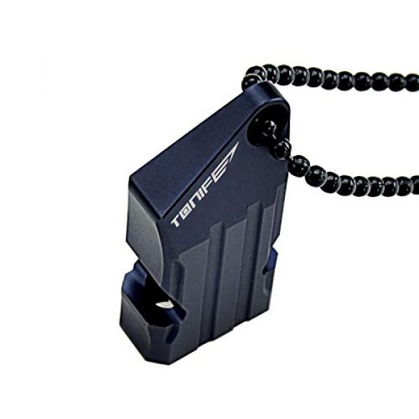 TONIFE Survival Whistle 5 TONIFE Whistles TW20 Aluminum Survival Whistles Double Tubes with Ball Chain Emergency Whistles for Outdoor Hiking Camping