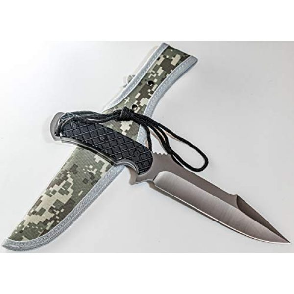 """Kratos Fixed Blade Survival Knife 4 Kratos ZF3 Hunting Knife   7"""" Quality Steel Fixed Blade   Outdoor   Sharp Durable Edge   Black Handle   w/Sheath"""