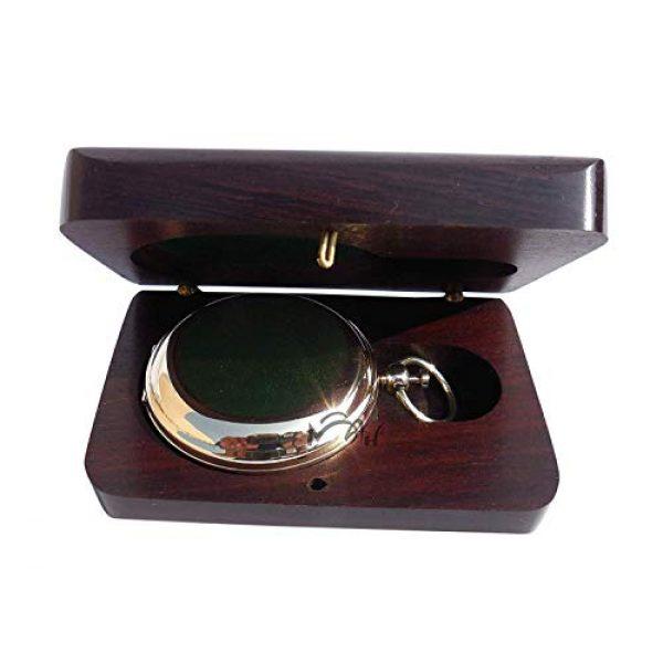 MAH Survival Compass 5 MAH Handmade Brass Push Button Engravable Direction Pocket Compass. C-3191
