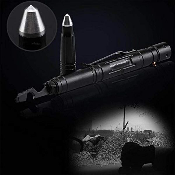 PRETTYGAGA Survival Flashlight 4 PRETTYGAGA Tactical Self-Defense Pen LED Tactical Flashlight, Bottle Opener, Window Breaker | Multi-Tool for Everyday Carry Survival Gear | Military, Police