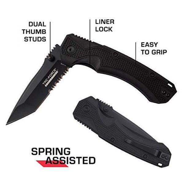 Tac Force Evolution Folding Survival Knife 5 Tac Force Evolution Spring Assisted Knife - TFE-A019T-BK