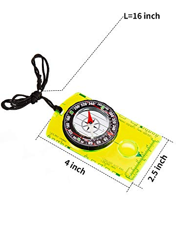 Gejoy  2 Gejoy 4 Pieces Navigation Hiking Compass Orienteering Backpacking Compass Waterproof Map Reading Compass for Boy Scout Kids Outdoor Camping (Style 1)