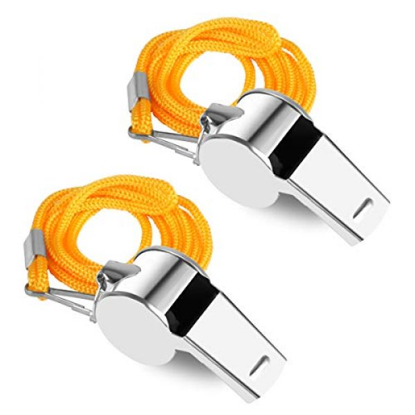 KKDAO Survival Whistle 7 KKDAO Coach Whistle, 35Pack with Lanyard Soccer Referee Whistle Ideal for Teacher, Football/Basketball/Soccer Coach, Sports, Safety, Emergency or Protection!