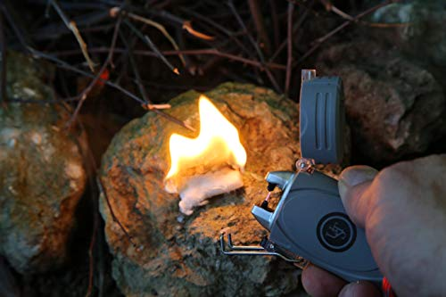 UST Survival Fire Starter 4 UST TekFire LED Fuel-Free Lighter with Convenient, Lightweight, Rugged Construction and Emergency Paracord Lanyard for Camping, Backpacking, Hiking and Outdoor Survival