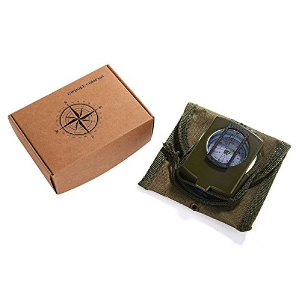 GWHOLE Survival Compass 2 GWHOLE Military Lensatic Sighting Compass Waterproof for Outdoor Activities