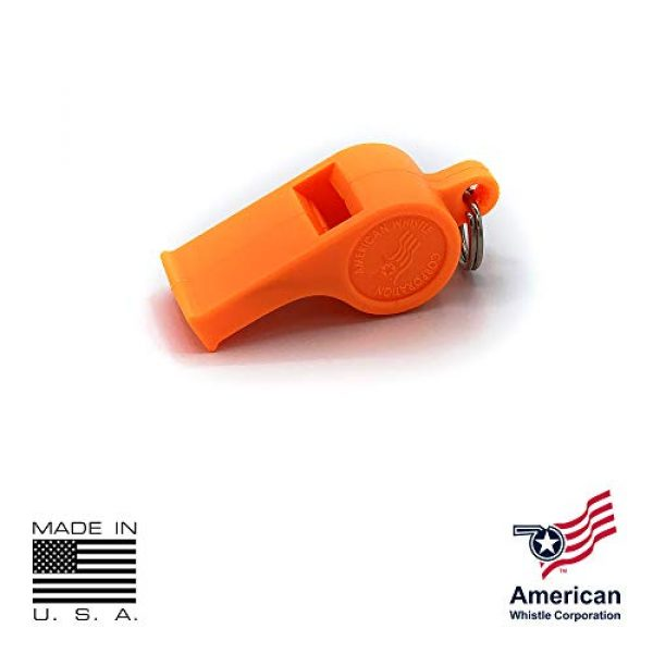 American Whistle Corporation Survival Whistle 4 American Whistle Corporation Orange Safety Whistles - Emergency Safety Whistles for Women, Men, and Kids