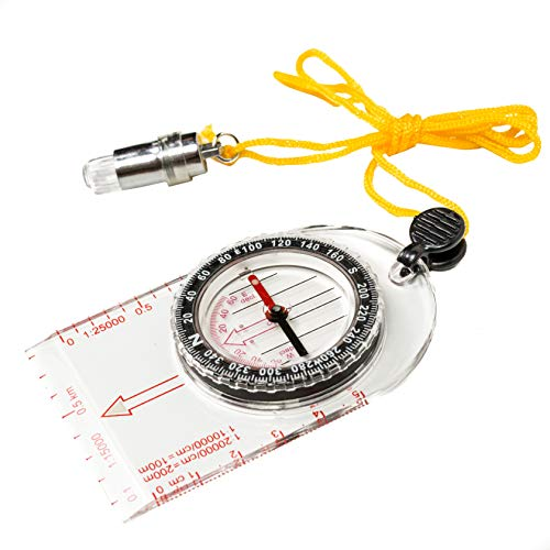 Unknown Survival Compass 2 Magnos Somnia Small and Light Multipurpose Magnetic Compass Easiest Camping, Hiking and Outdoor Compass