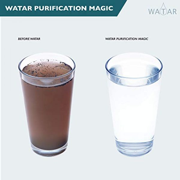 Watar Survival Water Filter 4 Watar Filtered Water Bottle with Straw BPA Free with 4-Stage Filter - Perfect for Travel, Backpacking, Camping, Hiking, and Emergency preparedness