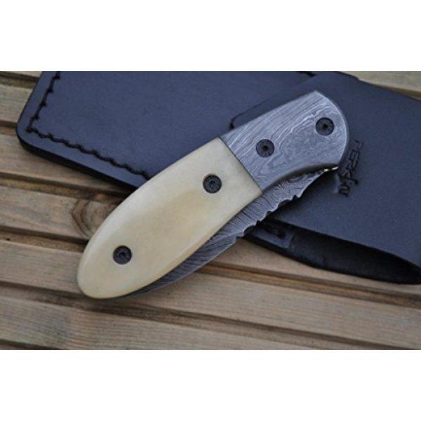 Perkin Folding Survival Knife 7 Perkin Knives - Handmade Damascus Pocket Knife - Beautiful Folding Knife