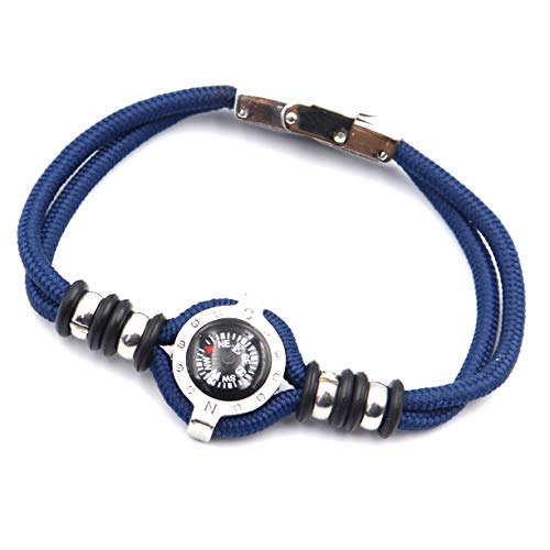DETUCK  2 DETUCK(TM Compass Bracelet Working Navigation Compass Charm Detachable Bracelet Jewelry Gift Wrap