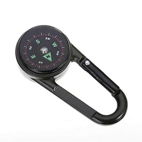 Sikeewii Survival Compass 3 Sikeewii 1PC Compass Camping Climbing Hiking 3-in-1 Multifunctional Carabiner Compass Thermometer 6.9x3x1.8cm Snap Hook Keychain Compass Outdoor Climbing Survival Tools