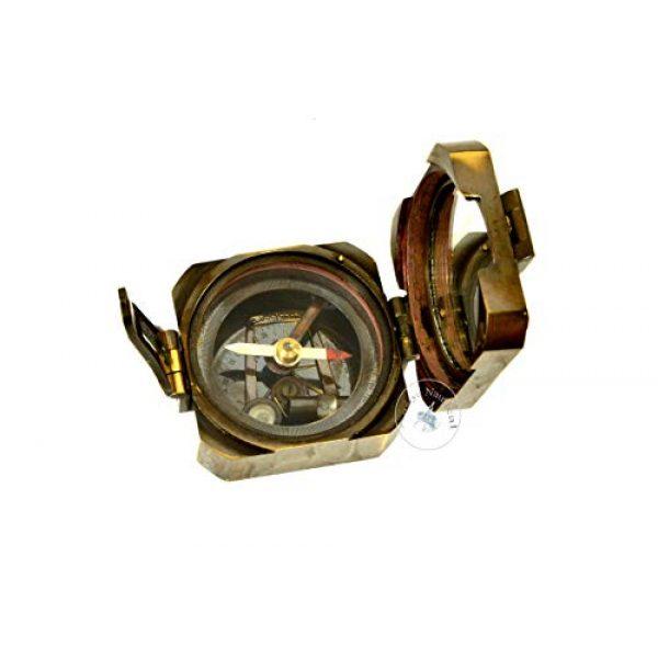 aasiya nautical Survival Compass 3 aasiya nautical Kelvin & Hughes Natural Sine Brunton 1917 Compass Brass Mining Compasses, Brass Pocket Compass Outdoor Navigation Tools an