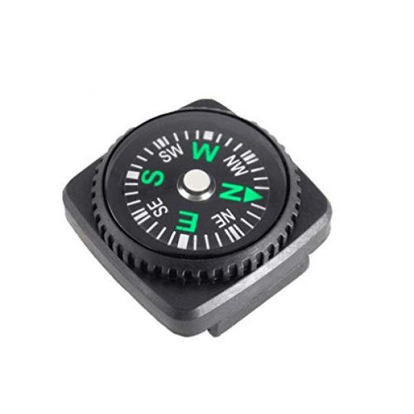 Kissmi Survival Compass 2 Kissmi Button Compass Kid Compass Survival Paracord Bracelet for Hiking Pack of 20