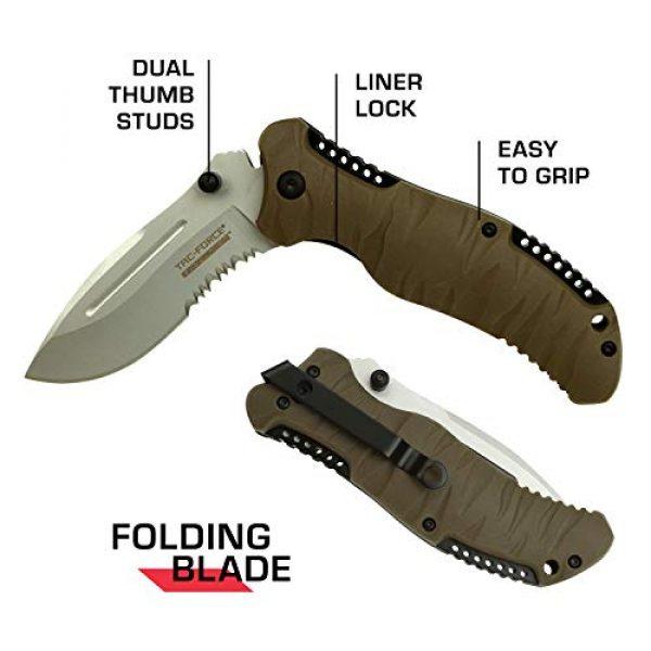 Tac Force Evolution Folding Survival Knife 5 Tac Force Evolution Folding Knife - TFE-FDR001-TN