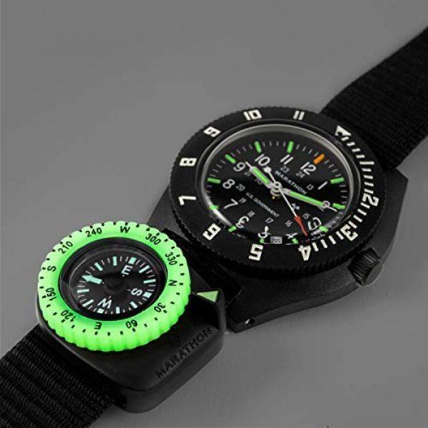 Marathon Survival Compass 11 Marathon Watch Clip-On Wrist Compass with Glow in The Dark Bezel. Northern Hemisphere Version - CO194005