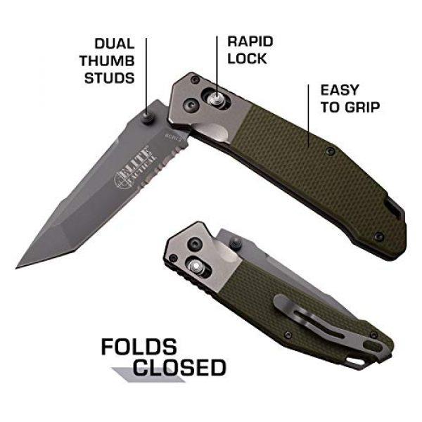 Elite Tactical Folding Survival Knife 5 Elite Tactical Folding Knife - ET-1027GN