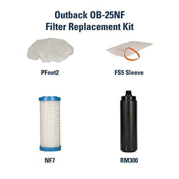 Outback Survival Water Filter 3 Outback Emergency Water Filtration Bundle: Portable Gravity Filter Plus + Extra Filter Replacement Kit - Removes Viruses & Bacteria 99.99%