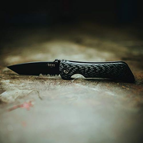 Southern Grind Folding Survival Knife 7 Southern Grind Spider Monkey Tanto Folding Knife w/Carbon Fiber Handle