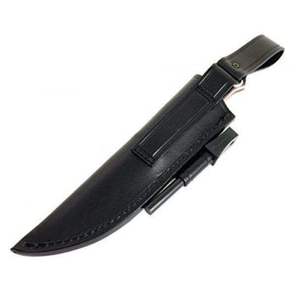 JEO-TEC Fixed Blade Survival Knife 6 JEO-TEC N18 Bushcraft Survival Hunting Knife, Stainless Steel Sandvik 12c27, Granadillo/Cocobolo Exotic Wood/Micarta Handle, Leather Sheath + Firesteel, Handmade