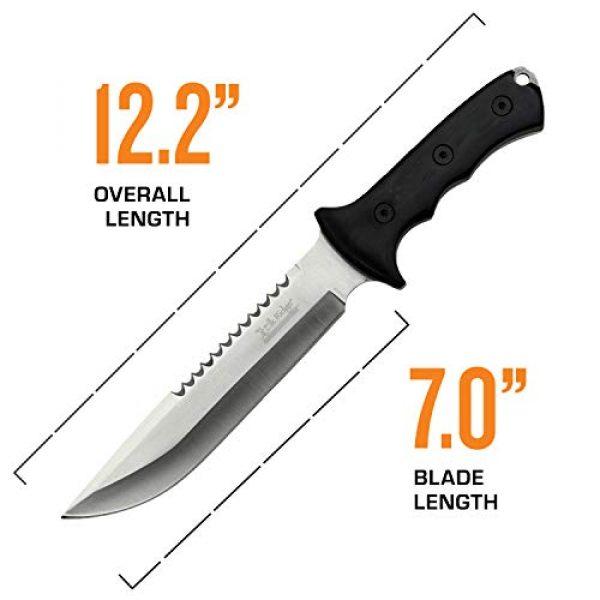 Elk Ridge Evolution Fixed Blade Survival Knife 4 Elk Ridge Evolution Fixed Blade Knife - ERE-FIX003-BK