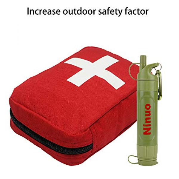 Ninuo Survival Water Filter 7 Ninuo Mini Water Filter - Portable Water Purifier, Personal Filtration System for Camping, Backpacking, Hiking, Emergency & Survival