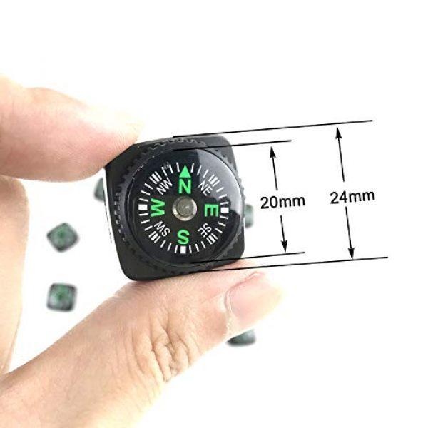 DETUCK Survival Compass 5 DETUCK(TM Mini Compass Button Compass Little Compasses Backup Compass Set for Wrist Watchband,Pardcord Bracelets Projects,Camping,Hiking etc (Pack of 10)