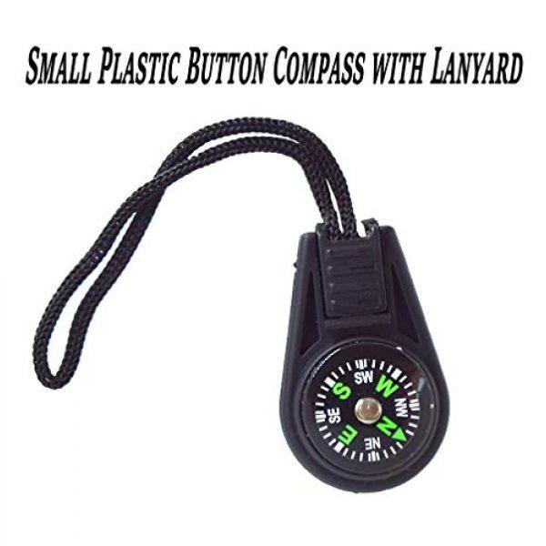 Bytiyar Survival Compass 2 Bytiyar 20 pcs Small Plastic Liquid Filled Compass Keychain Lanyard Hook Survival Kit for Backpack