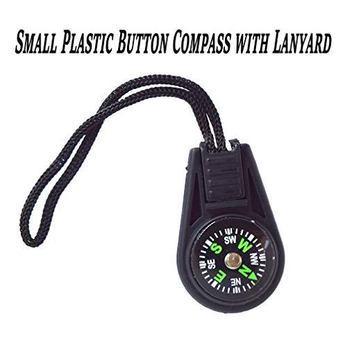 Bytiyar  2 Bytiyar 20 pcs Small Plastic Liquid Filled Compass Keychain Lanyard Hook Survival Kit for Backpack