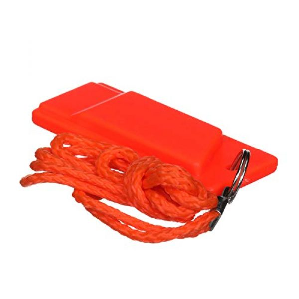 attwood Survival Whistle 6 Attwood 11829-6 Safety Whistle, Plastic, Flat Type, No Interior Ball, Delivers Emergency Signal, Includes Lanyard