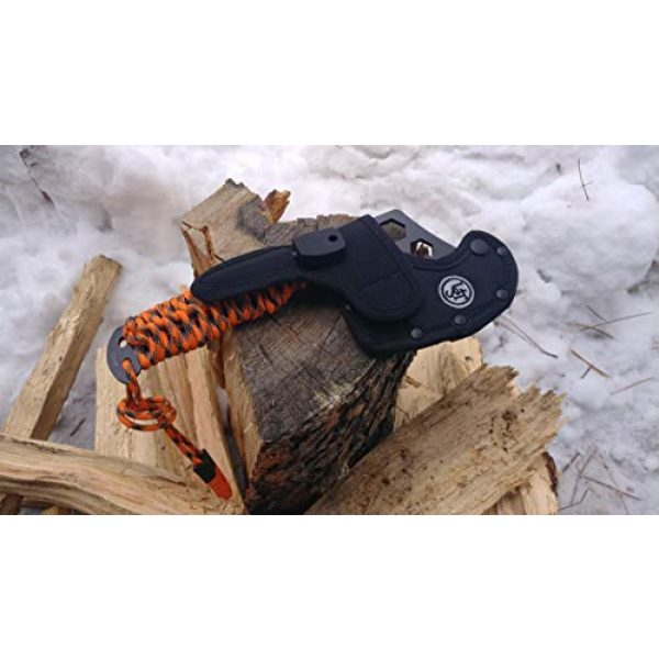 UST Fixed Blade Survival Knife 5 UST ParaHatchet PRO with Hex Wrenches, ParaTinder Utility Cord, Fire Starter, Bottle Opener/Rope Cutter and Emergency Whistle for Hiking, Backpacking, Camping and Outdoor Survival