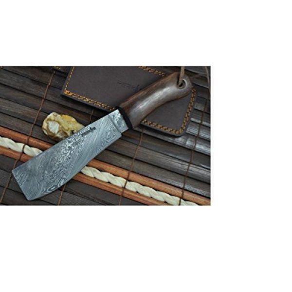 Perkin Fixed Blade Survival Knife 6 Perkin Knives - Damascus Steel Knife - Hunting Knife - Machete