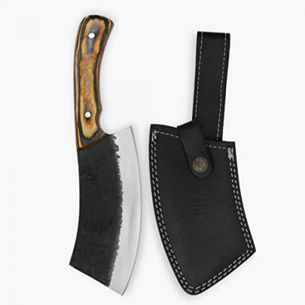 Hobby Hut Fixed Blade Survival Knife 4 Hobby Hut HH-331 Custom Handmade 10 inches 1095 Carbon Steel Hunting Knife with Sheath, Fixed Blade Knife, Pakka Wood Handle Designed for Hunting Camping and Survival