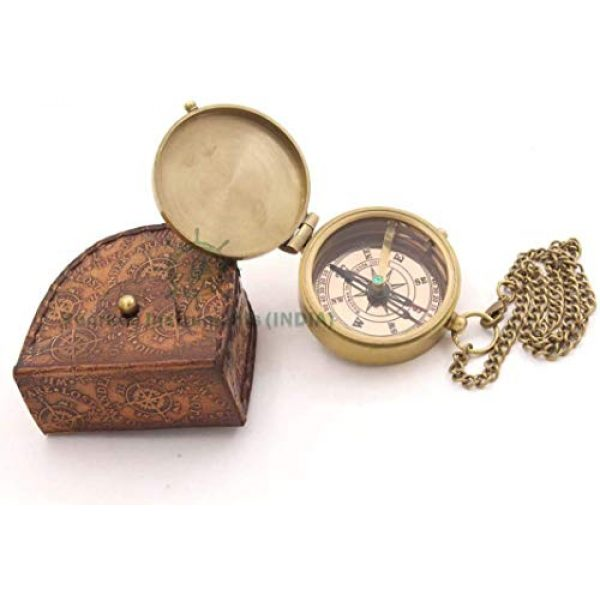 Roorkee Instruments India Survival Compass 3 ROORKEE INSTRUMENTS (INDIA) A NAUTICAL REPRODUCTION HOUSE Ralph Waldo Emerson Do not go Poem Compass with Hand Made Leather Case