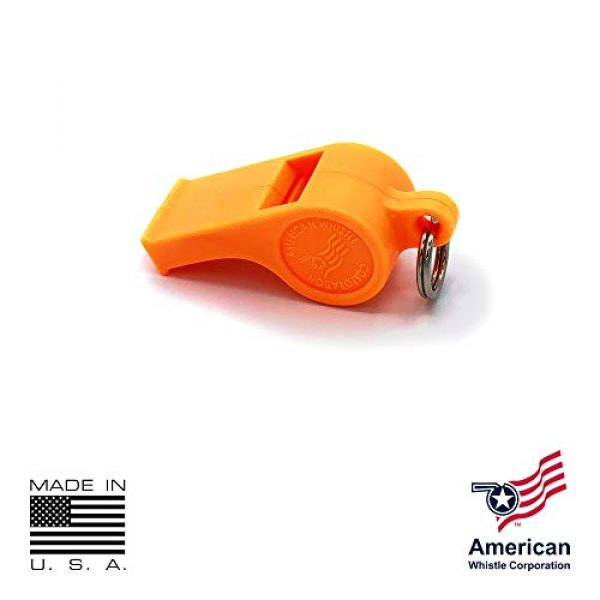 American Whistle Corporation Survival Whistle 5 American Whistle Corporation Orange Safety Whistles - Emergency Safety Whistles for Women, Men, and Kids