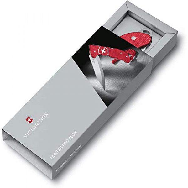 Victorinox Folding Survival Knife 6 Victorinox Hunter Pro M Alox Folding Knife Red Aluminium Handle - Red