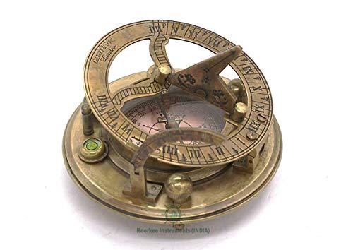 Roorkee Instruments India Survival Compass 2 Roorkee Instruments India Captain Sundial Compass with Box Dolond London Sun Clock