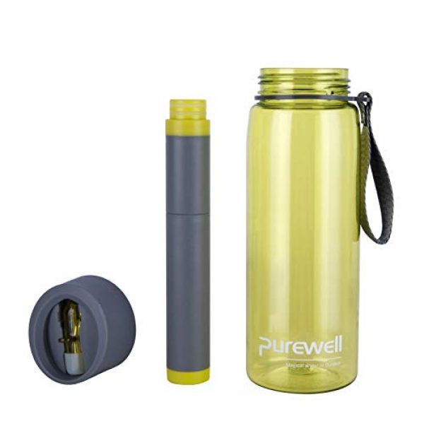 Purewell Survival Water Filter 2 Purewell Water Bottle 2-Stage Replacement Filter