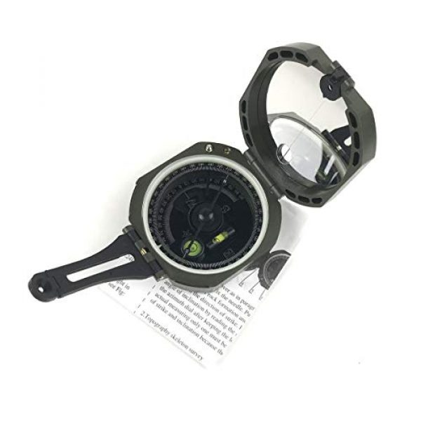 DETUCK Survival Compass 4 DETUCK(TM Professional Geological Compass Lensatic Military Compass | Survival Orienteering Sighting Compass with Mirror | Navigation Pocket Compass for Hiking Camping Outdoors