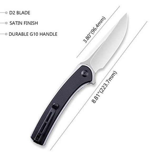 Civivi Folding Survival Knife 2 Civivi Asticus Folding Pocket Knife, Utility Knife with Liner Lock,Ball Bearing Pivot, G10 Handle with Deep Carry Pocket Clip Everyday Carry Knife C2002D
