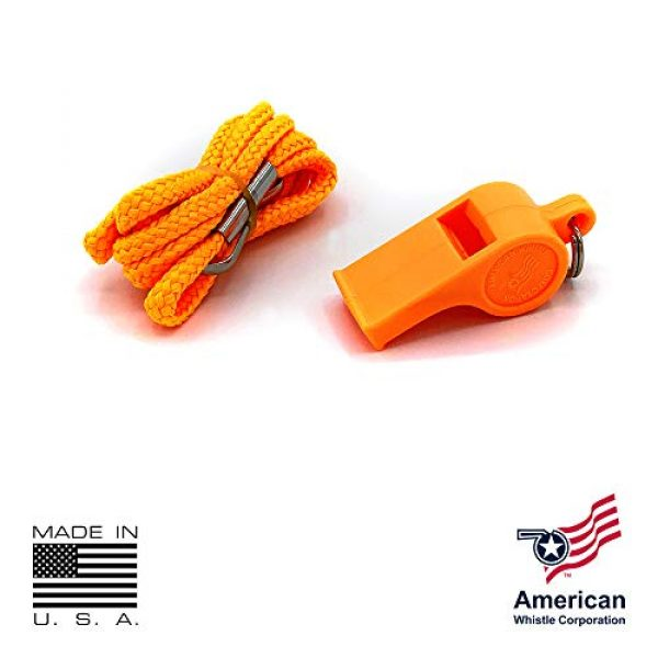 American Whistle Corporation Survival Whistle 2 American Whistle Corporation Orange Safety Whistles - Emergency Safety Whistles for Women, Men, and Kids