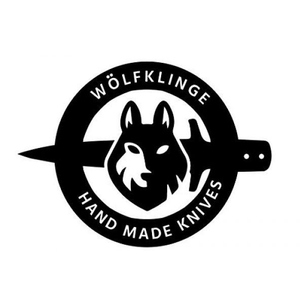 WolfKlinge Fixed Blade Survival Knife 3 WolfKlinge DCX17-50 Handmade Damascus Steel Hunter, Sheep Horn + Stone Handle, with Cowhide Leather Sheath