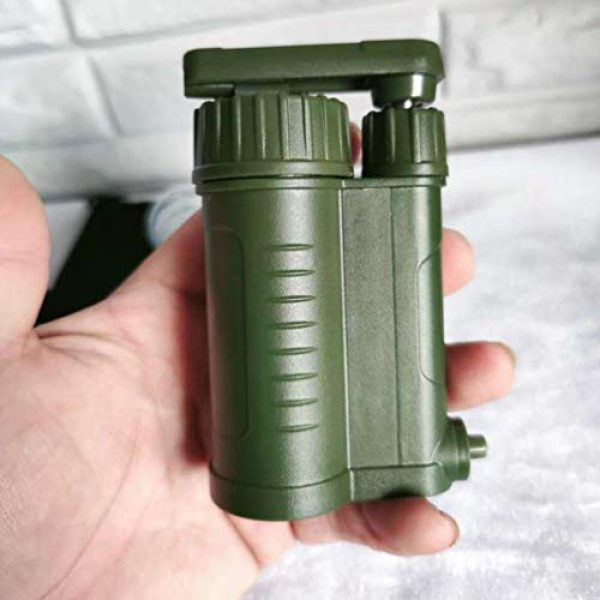 OULATUWB Survival Water Filter 7 OULATUWB Mini Water Filtration System Portable Gravity Powered Water Purifier for Emergency Preparedness and Camping