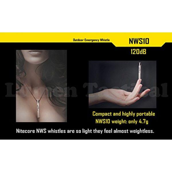 Nitecore Survival Whistle 6 Nitecore NWS10 TC4 Titanium Outdoor Emergency Whistle 120 Decibeles (NWS10 Emergency Whistle)